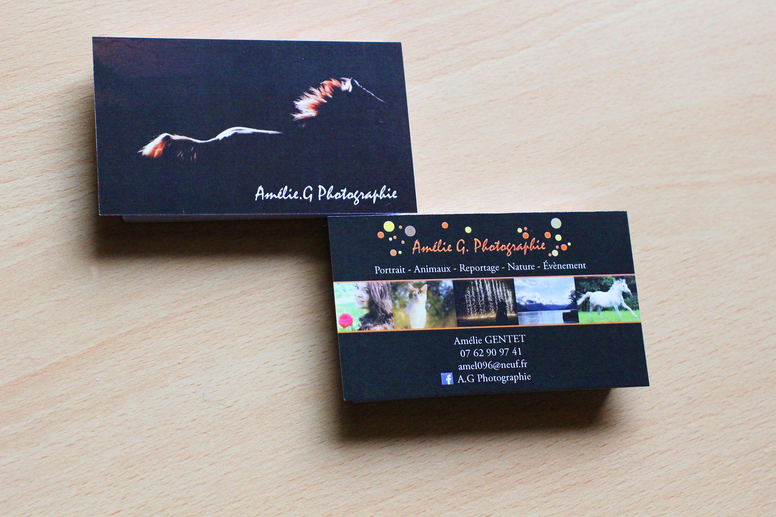 Cartes De Visite AG Photographie Laetitia Marchetto